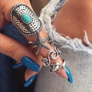 Boho Sea Inspired Midi Rings